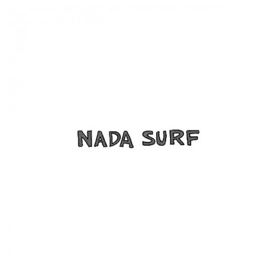 Nada Surf Rock Band Logo Decal