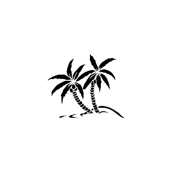 Palm Trees Die Cut Vinyl Decal