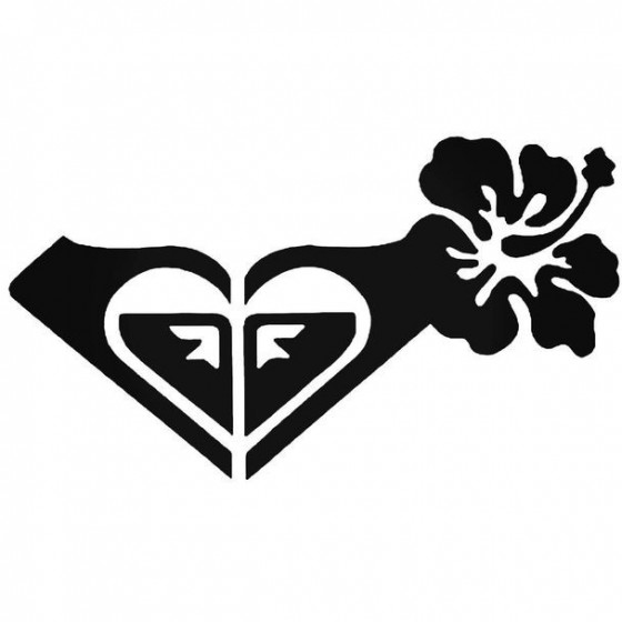 Roxy Hibiscus Surfing Decal...