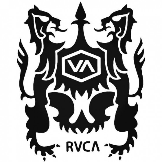 Rvca Crest Surfing Decal...