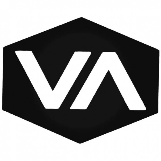 Rvca Plaque Surfing Decal...