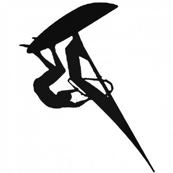 Sail Surfing Surfer Decal