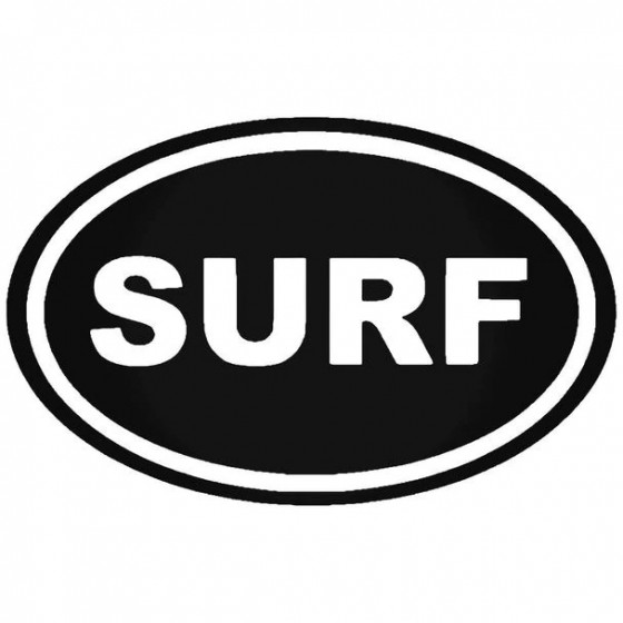 Surf Oval Water Vinyl Decal...