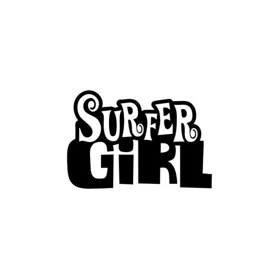 Surfer Girl Die Cut Vinyl...