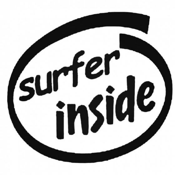Surfer Inside Decal Sticker