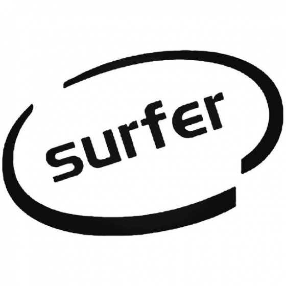Surfer Oval Decal Sticker
