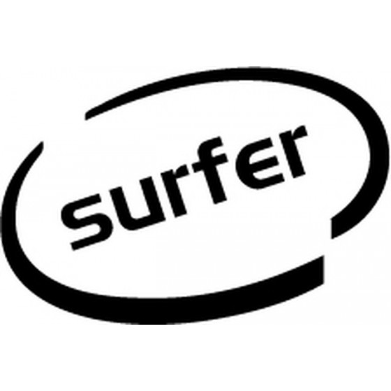 Surfer Oval Vinyl Decal...