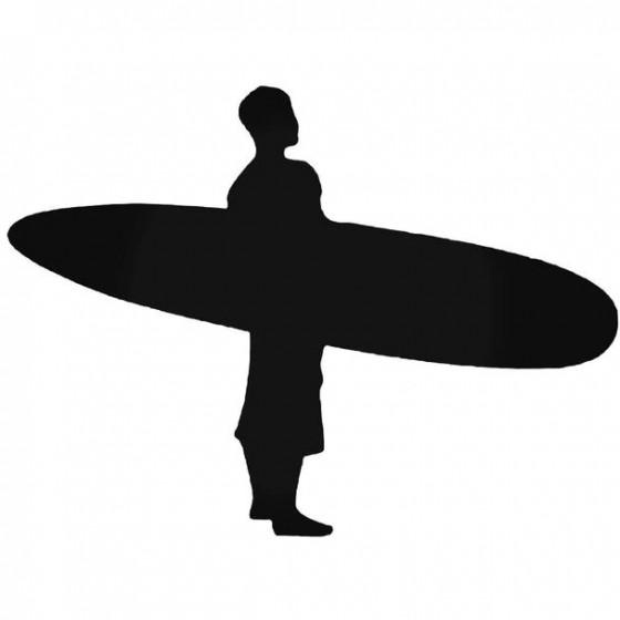 Surfer Surfing Decal Sticker