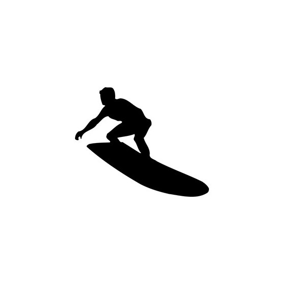 Surfing Die Cut Vinyl Decal
