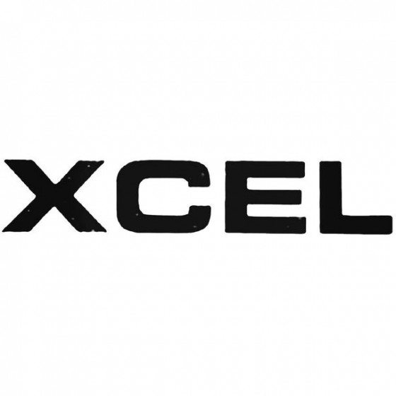 Xcel Text Surfing Decal...