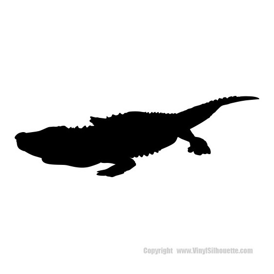 Alligator Decal Sticker V17