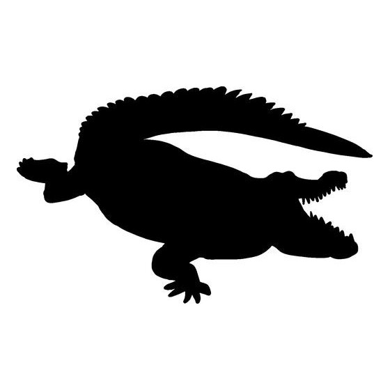 Alligator Decal Sticker V21