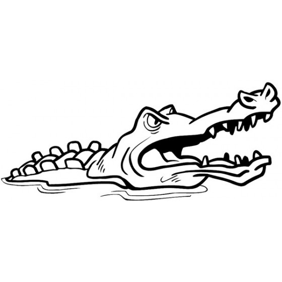 Alligator Decal Sticker V23