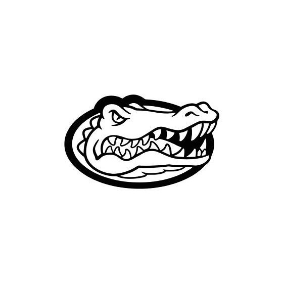 Alligator Decal Sticker V25