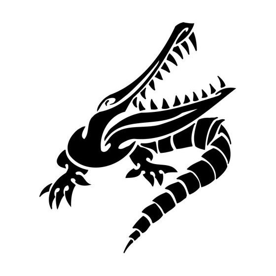 Alligator Decal Sticker V26