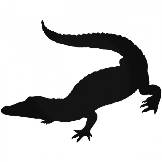 Alligator Decal Sticker V6