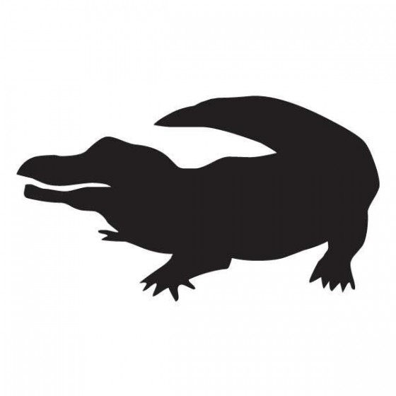 Alligator Decal Sticker V7