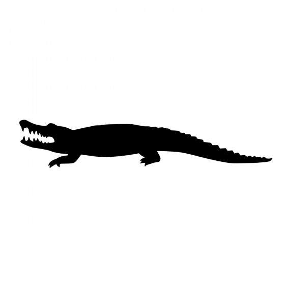 Alligator Decal Sticker V8