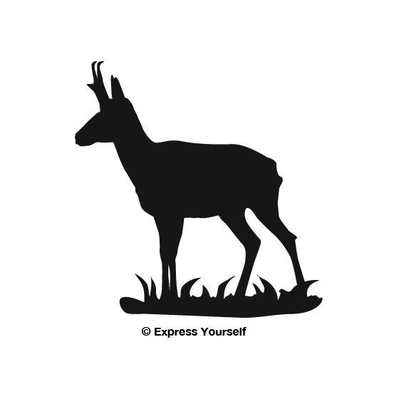 Antelope Decal Sticker V17