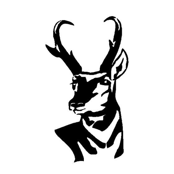Antelope Decal Sticker V21