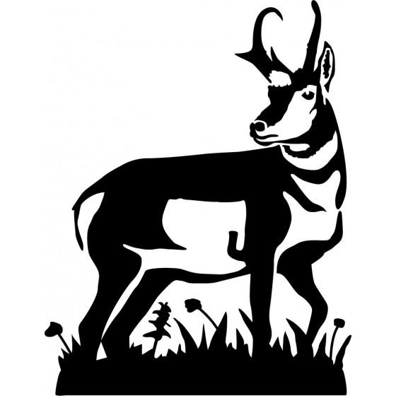Antelope Decal Sticker V22