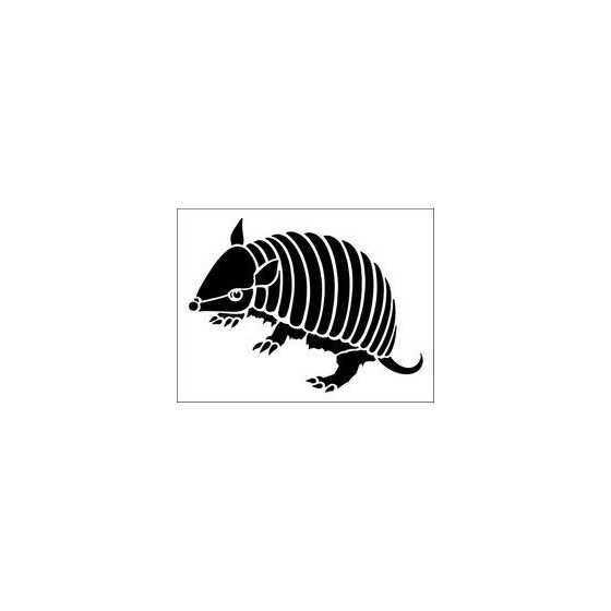 Armadillo Decal Sticker V12