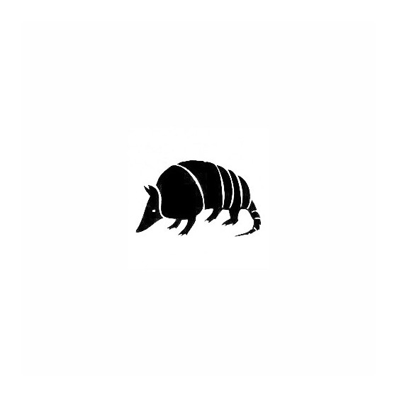 Armadillo Decal Sticker V13