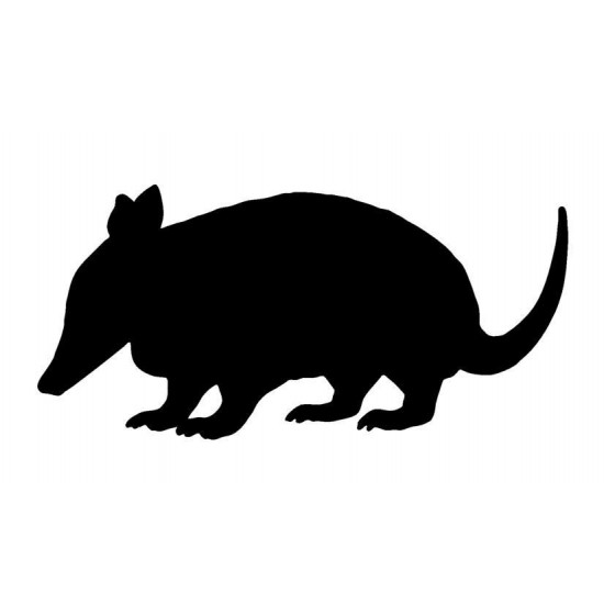 Armadillo Decal Sticker V15