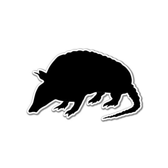 Armadillo Decal Sticker V16