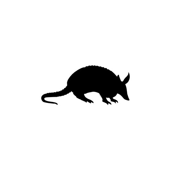 Armadillo Decal Sticker V18