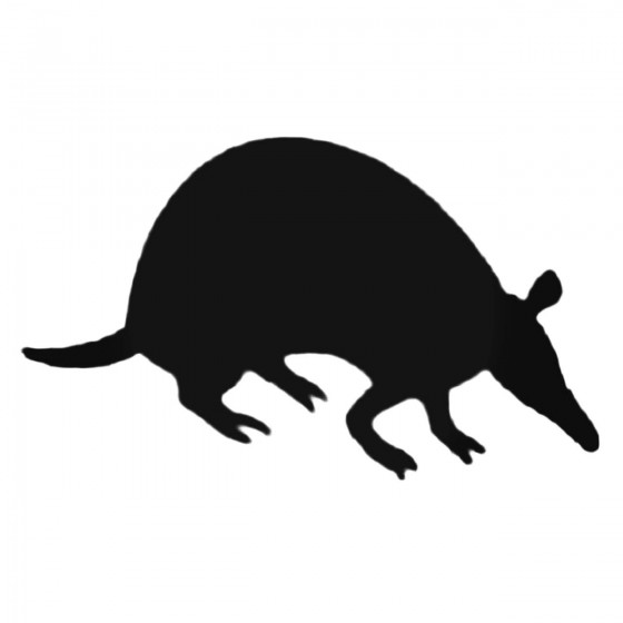 Armadillo Decal Sticker V19