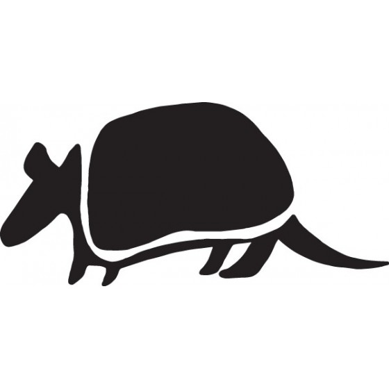 Armadillo Decal Sticker V22