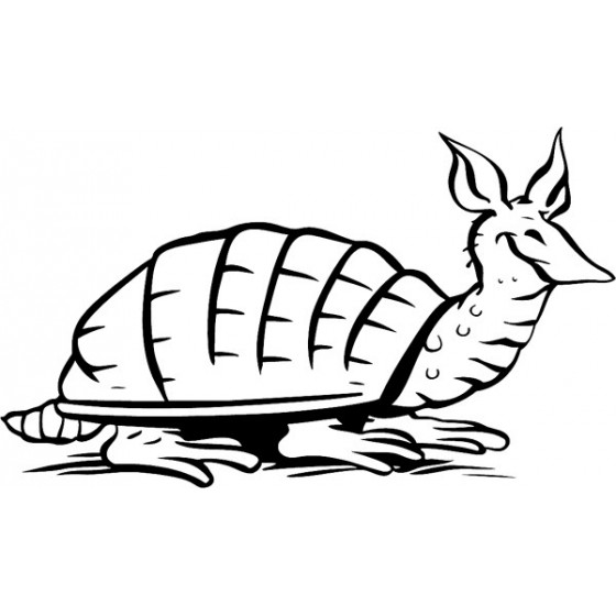 Armadillo Decal Sticker V26