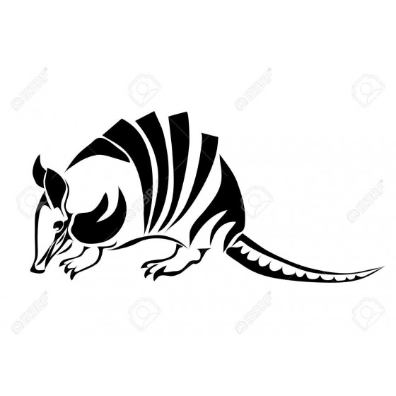 Armadillo Decal Sticker V29