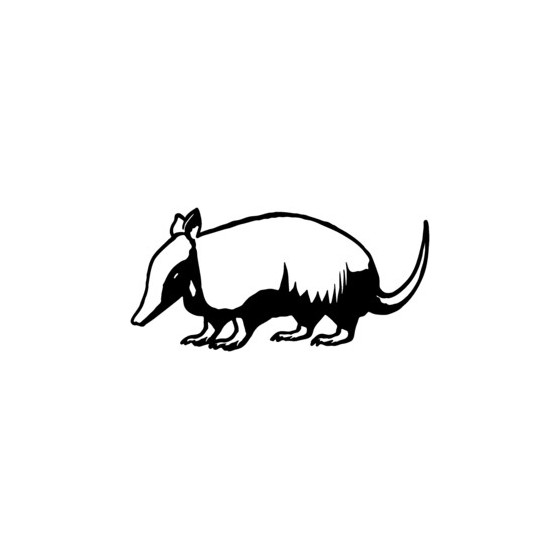 Armadillo Decal Sticker V3