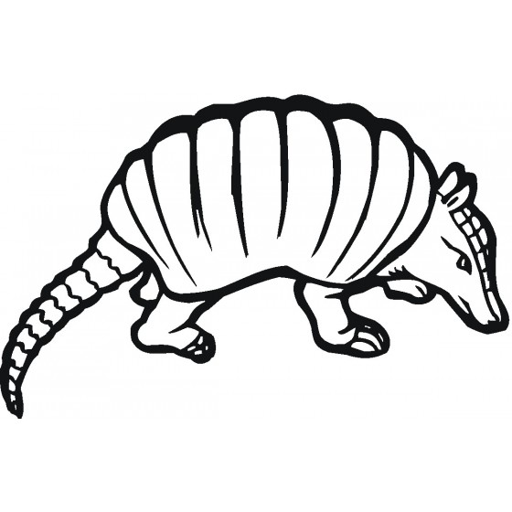 Armadillo Decal Sticker V32