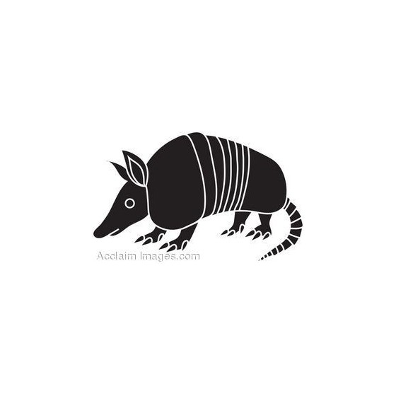Armadillo Decal Sticker V34