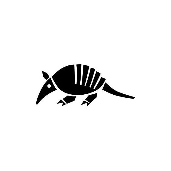 Armadillo Decal Sticker V6
