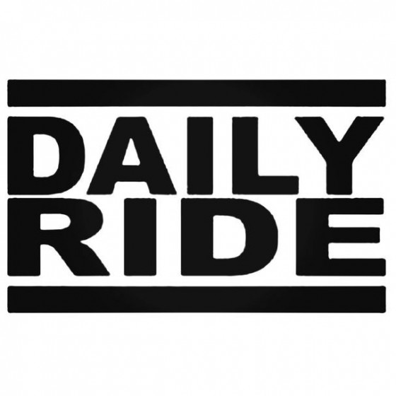 Daily Ride Decal Sticker