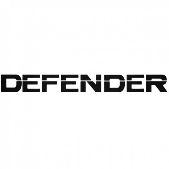 Defender Decal Sticker