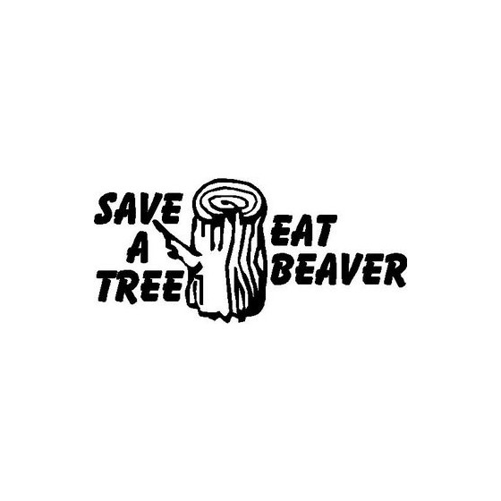 Beaver Decal Sticker V18