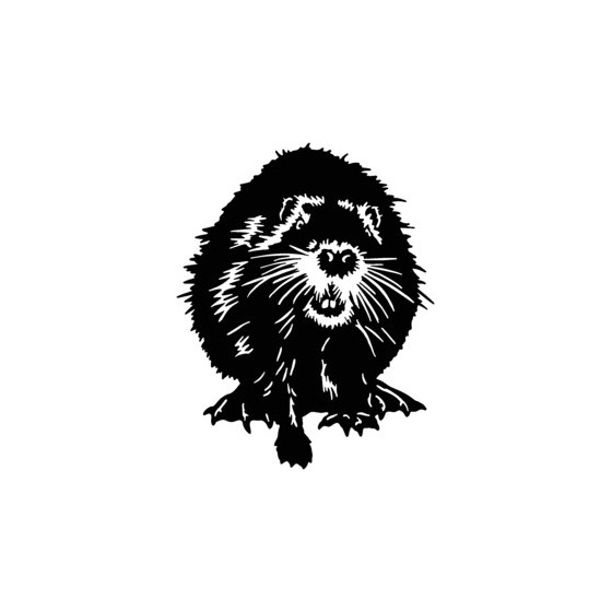 Beaver Decal Sticker V2