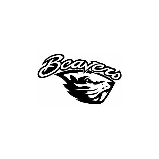 Beaver Decal Sticker V20