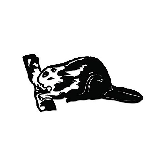Beaver Decal Sticker V22