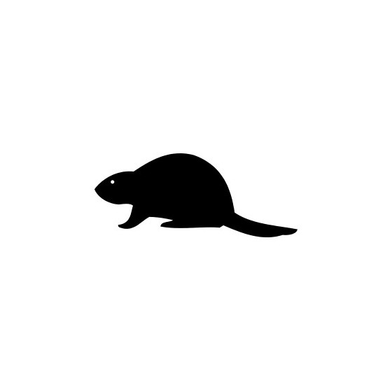 Beaver Decal Sticker V23