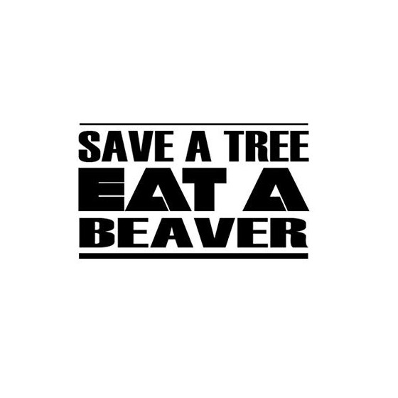 Beaver Decal Sticker V25