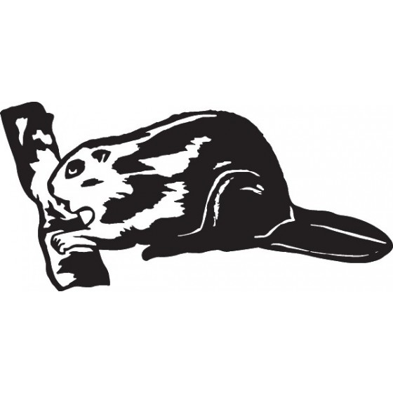Beaver Decal Sticker V26