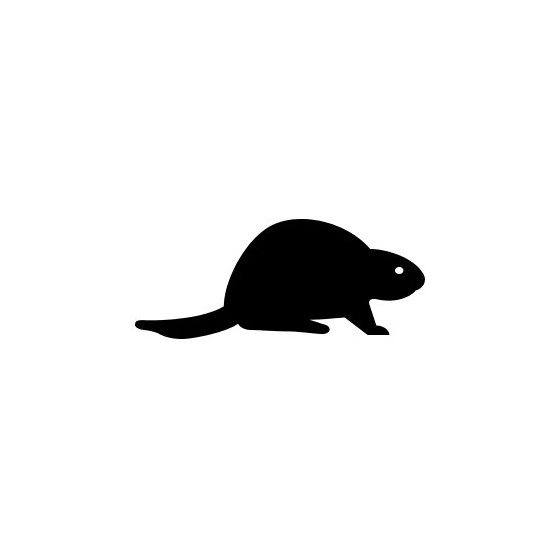 Beaver Decal Sticker V29