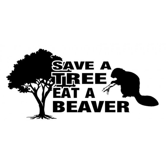 Beaver Decal Sticker V30