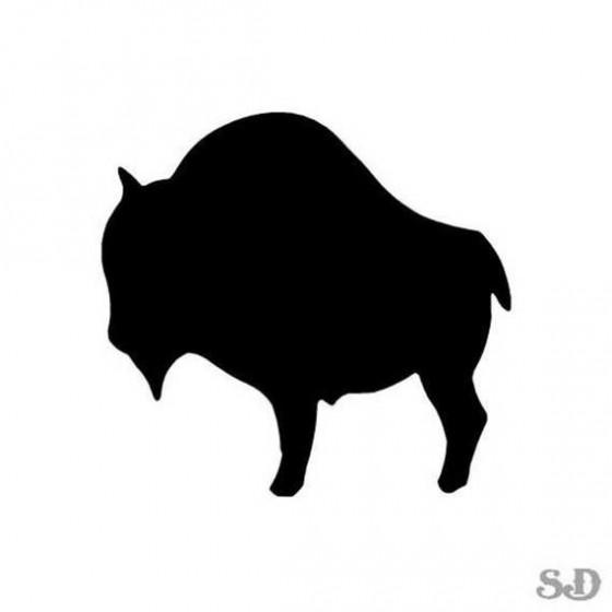 Bison Decal Sticker V16